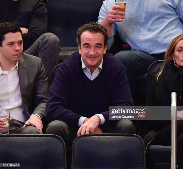 Olivier Sarkozy attends the Utah Jazz Vs New York Knicks game at Madison Square Garden on November 15 2017 in New York City