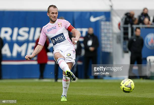 Olivier Sorlin of Evian in action during the French Ligue 1 match between Paris SaintGermain FC and Evian Thonon Gaillard FC at Parc des Princes...