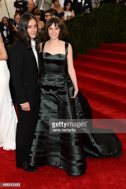 """Olivier Theyskens and Felicity Jones yattend the """"Charles James: Beyond Fashion"""" Costume Institute Gala at the Metropolitan Museum of Art on May 5,..."""