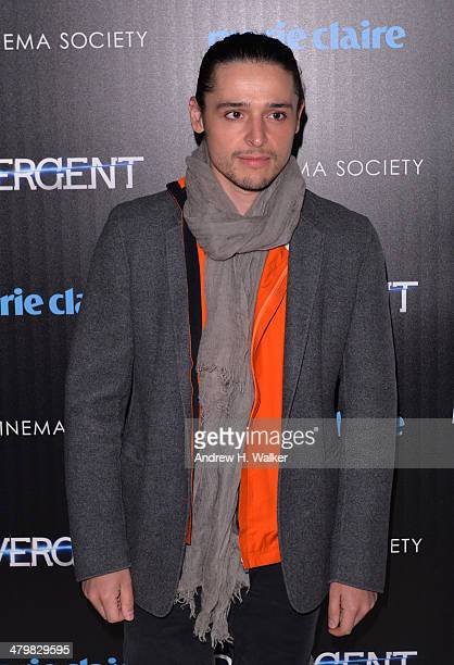 """Olivier Theyskens attends the Marie Claire & The Cinema Society screening of Summit Entertainment's """"Divergent"""" at Hearst Tower on March 20, 2014 in..."""