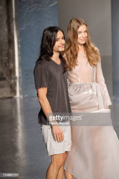 Olivier Theyskens attends the Theyskens' Theory 2012 fashion show during Mercedes-Benz Fashion Week Spring 2012 at Center 548 on September 13, 2011...