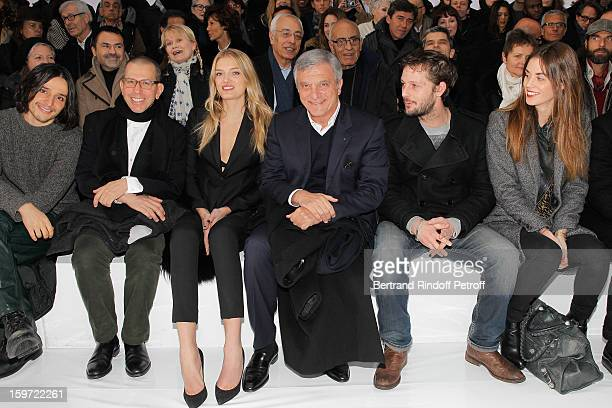Olivier Theyskens Jonathan Newhouse chairman of Conde Nast International Lily Donaldson Sidney Toledano Nicolas Duvauchelle and his companion Laura...