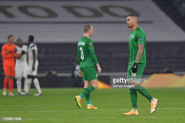Olivier VERDON of Ludogorets and Anton NEDYALKOV of Ludogorets look dejected during the UEFA Europa League Group J stage match between Tottenham...