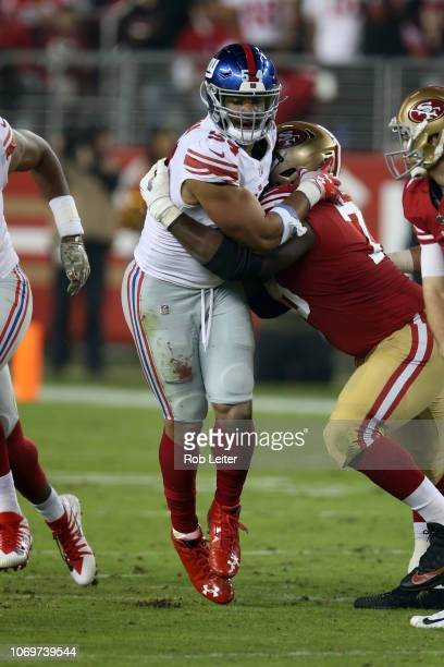 Olivier Vernon of the New York Giants in action during the game against the San Francisco 49ers at Levi Stadium on November 11 2018 in Santa Clara CA...