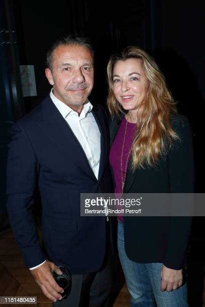 Olivier Widmaier Picasso and Arabelle ReilleMahdavi attend the JeanMichel Othoniel La Rose du Louvre Exhibition Preview at Louvre Museum on May 24...
