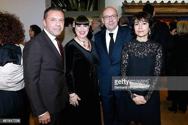 Olivier Widmaier Picasso Artist Joana Vasconcelos President of Museum of Modern Art of Paris Fabrice Hergott and Galerist Nathalie Obadia attend the...