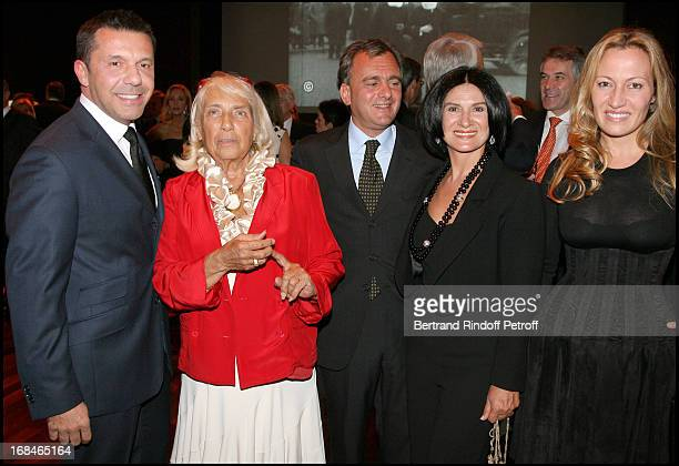 Olivier Widmaier Picasso Maya Widmaier Picasso Paloma Picasso and her husband Eric Thevenet Diana Widmaier Picasso at Private Viewing Of The...
