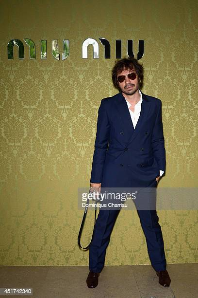 Olivier Zahm attends the Miu Miu Resort Collection 2015 at Palais d'Iena on July 5 2014 in Paris France