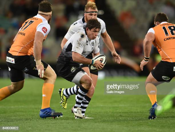 Oliviero Fabiani of the Zebre during the Guinness Pro14 match between Toyota Cheetahs and Zebre at Toyota Stadium on September 16 2017 in...