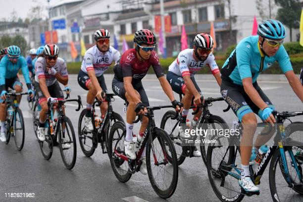 Oliviero Troia of Italy and UAE - Team Emirates / Roberto Ferrari of Italy and UAE - Team Emirates / Diego Rosa of Italy and Team INEOS / Fernando...