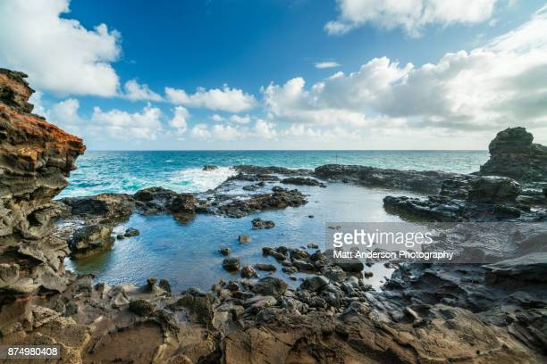 olivine pools - kahakuloa point #2 - tidvattensbassäng bildbanksfoton och bilder