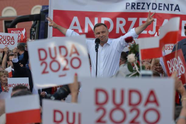 POL: Andrzej Duda Election Campaign Rally In Olkusz