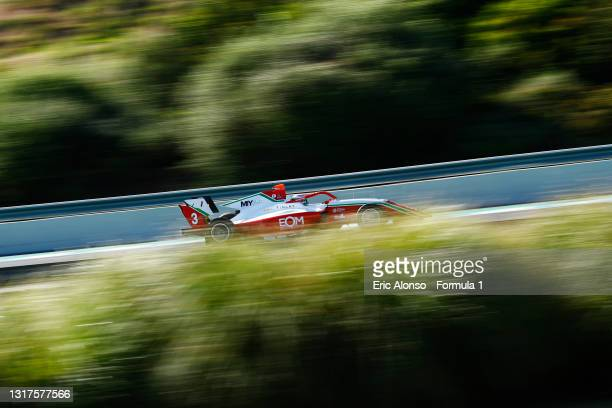 Olli Caldwell of Great Britain and Prema Racing drives at Circuito de Jerez on May 12, 2021 in Jerez de la Frontera, Spain.