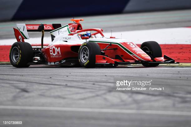 Olli Caldwell of Great Britain and Prema Racing drives during Day Two of Formula 3 Testing at Red Bull Ring on April 04, 2021 in Spielberg, Austria.