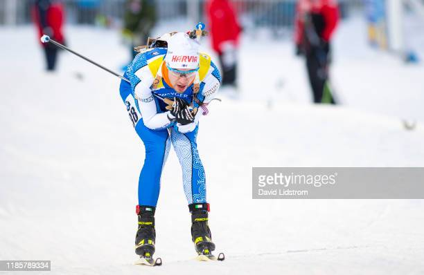 Olli Hiidensalo of Finland competes during the Mens 10 km Sprint Competition at the BMW IBU World Cup Biathlon Oestersund at Swedish National...