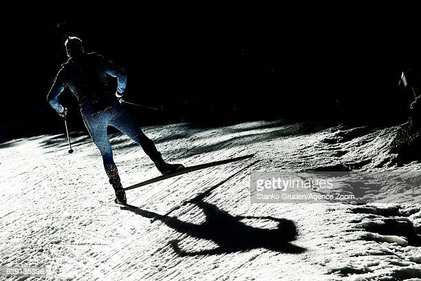 Olli Hiidensalo of Finland in action during the IBU Biathlon World Cup Men's and Women's Relay on December 11 2016 in Pokljuka Slovenia