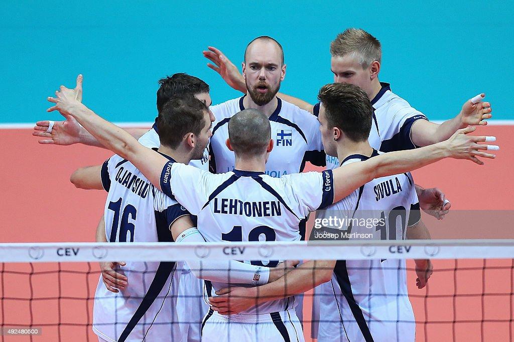 2015 CEV VolleyballEuropean Championship Play Offs - Finland vs Italy : News Photo