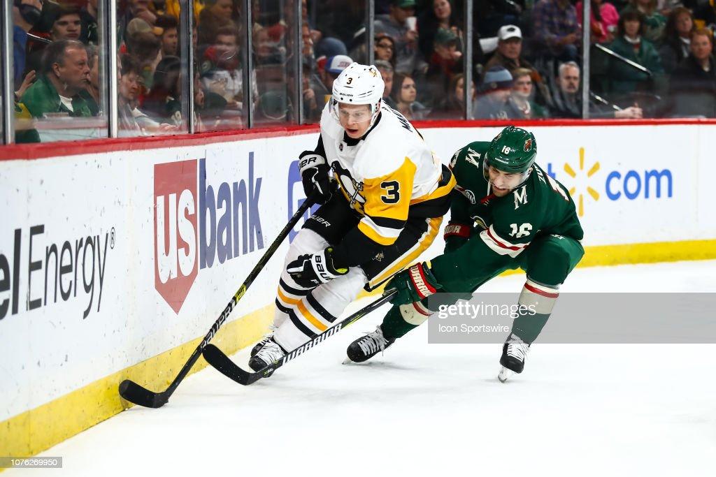 NHL: DEC 31 Penguins at Wild : News Photo