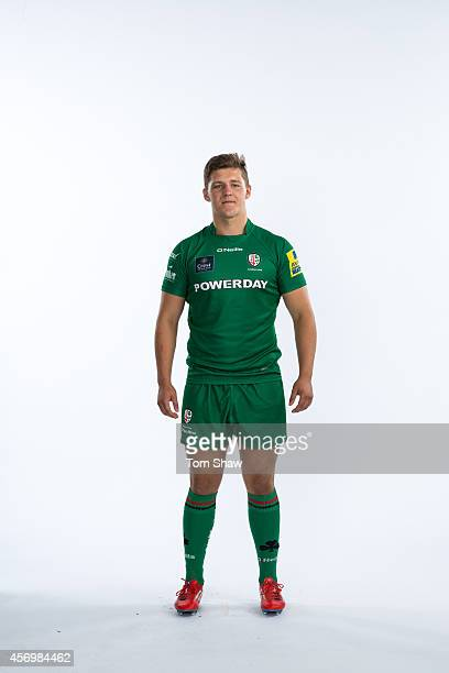 Ollie Adams of London Irish poses for a picture during the BT PhotoShoot at Sunbury Training Ground on August 27 2014 in Sunbury England