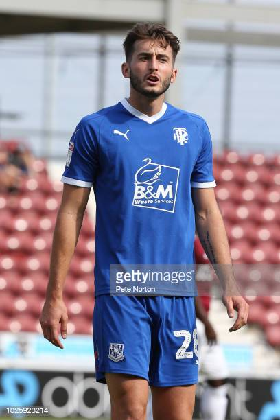 Ollie Banks of Tranmere Rovers in action during the Sky Bet League Two match between Northampton Town and Tranmere Rovers at PTS Academy Stadium on...