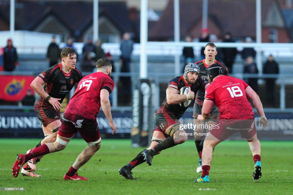 Dragons v Munster Rugby - Guinness Pro14 : News Photo