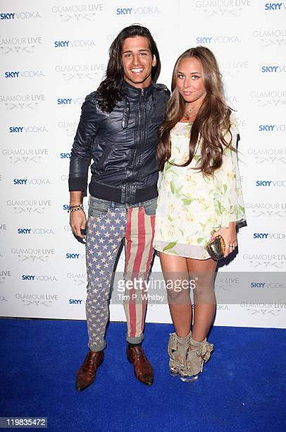 Ollie Locke and Chloe Green from from the TV show ''Made in Chelsea'' attends Skyy Vodka Glamour Live at Supperclub on July 25 2011 in London England...
