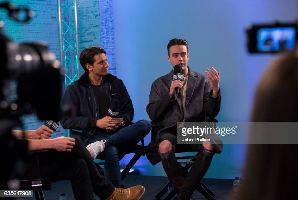 Ollie Locke and Jack Rogers joins BUILD for a live interview at their London studio at AOL London on February 16 2017 in London England