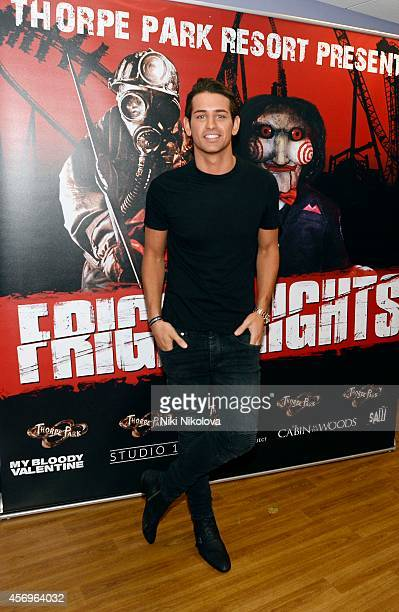 Ollie Locke attends Friday Night VIP Event held in at Thorpe Park on October 9 2014 in Chertsey England