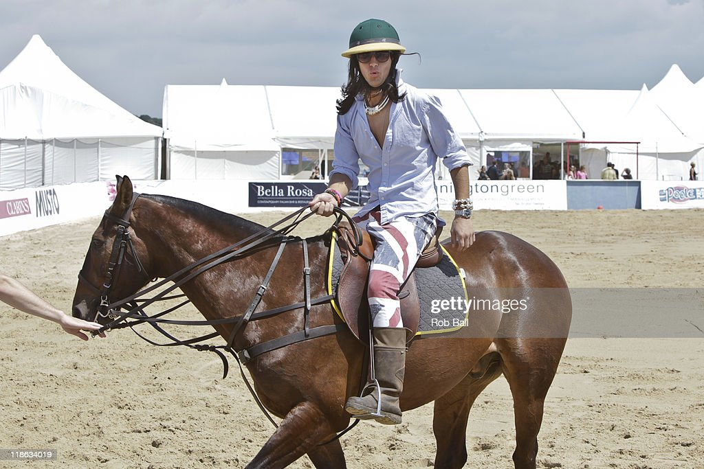 Ollie Locke from Made in Chelsea attends the British Beach Polo Championships at Sandbanks Beach on July 9, 2011 in Poole, England.