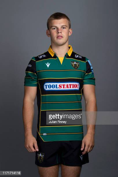 Ollie Newman of Northampton Saints poses for a portrait during the Northampton Saints squad photocall for the 20192020 Gallagher Premiership Rugby...