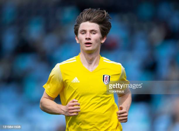 Ollie O'Neill of Fulham during the U18 Premier League match between Manchester City and Fulham at The Academy Stadium on May 22, 2021 in Manchester,...