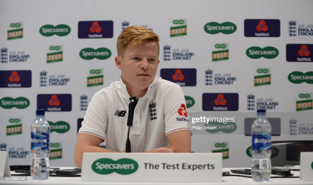 Ollie Pope of England at a press conference before a training session before the 2nd Specsavers Test Match between England and India at Lord's Cricket Ground on August 7, 2018 in London England.