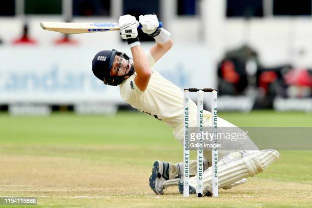 Ollie Pope of England bats during day 2 of the 3rd Test match between South Africa and England at St Georges Park on January 17, 2020 in Port...