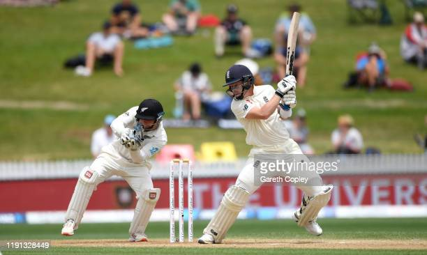 Ollie Pope of England bats during day 4 of the second Test match between New Zealand and England at Seddon Park on December 02, 2019 in Hamilton, New...