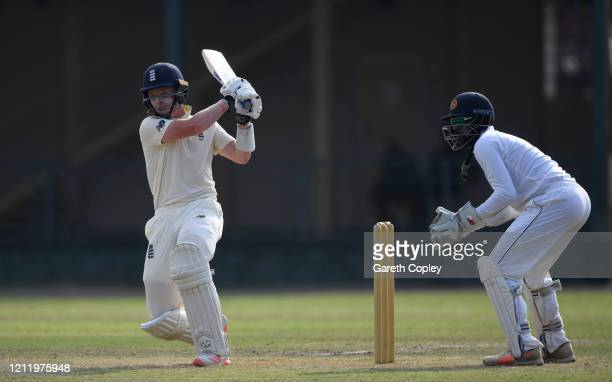 Ollie Pope of England bats during the tour match between SLC Board President's XI and England at P Sara Oval on March 12 2020 in Colombo Sri Lanka