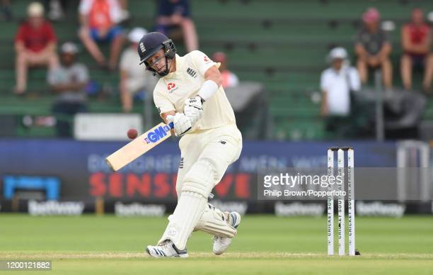Ollie Pope of England hits a six during Day Two of the Third Test between England and South Africa on January 17, 2020 in Port Elizabeth, South...
