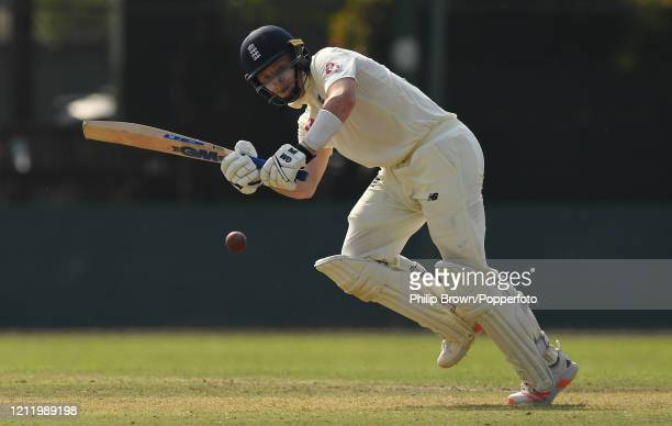 Ollie Pope of England hits out during the match between a Sri Lanka Board President's XI and England at P Sara Oval on March 12 2020 in Colombo Sri...