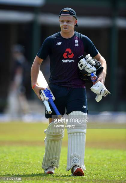 Ollie Pope of England walks to the nets during a nets session at the P Sara Oval on March 11 2020 in Colombo Sri Lanka