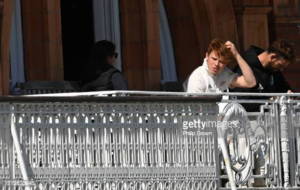 Ollie Pope of Surrey before day one of the LV= Insurance County Championship match between Middlesex and Surrey at Lord's Cricket Ground on April 22,...