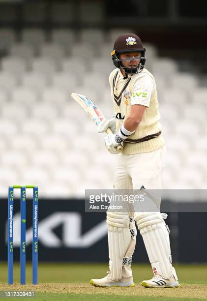 Ollie Pope of Surrey stands in his stance during Day Two of the LV= Insurance County Championship match between Surrey and Hampshire at The Kia Oval...