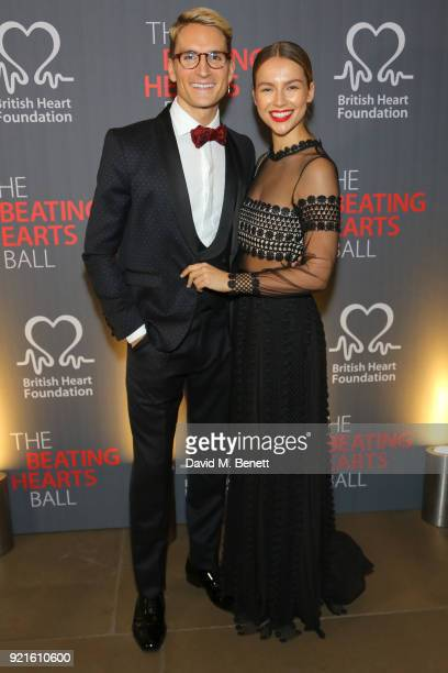 Ollie Proudlock and Emma Louise Connolly attend the British Heart Foundations Beating Hearts Ball at The Guildhall on February 20 2018 in London...
