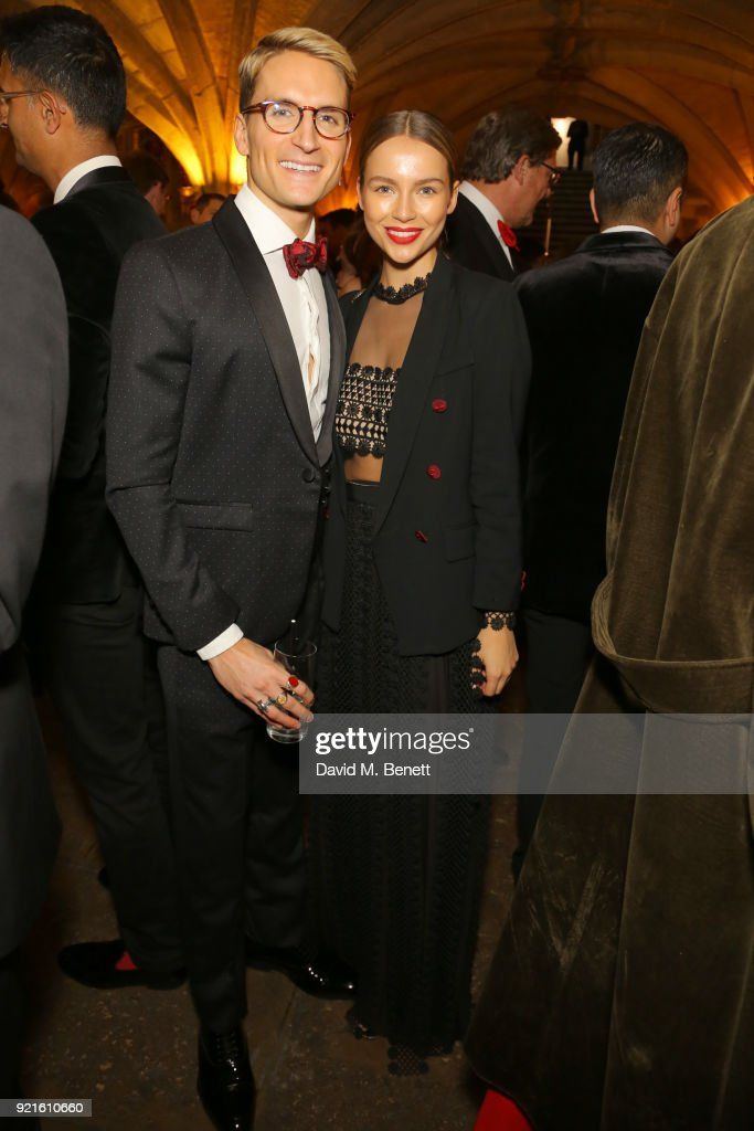 Ollie Proudlock (L) and Emma Louise Connolly attend the British Heart Foundations Beating Hearts Ball at The Guildhall on February 20, 2018 in London, England.