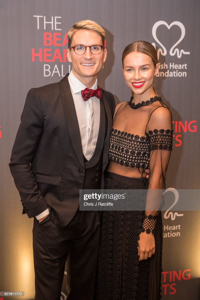 Ollie Proudlock and Emma Louise Connolly attend the British Heart Foundation's 'The Beating Hearts Ball' at The Guildhall on February 20, 2018 in London, England.