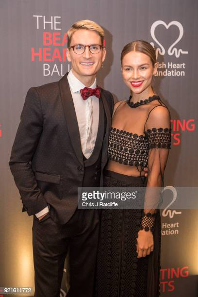 Ollie Proudlock and Emma Louise Connolly attend the British Heart Foundation's 'The Beating Hearts Ball' at The Guildhall on February 20 2018 in...