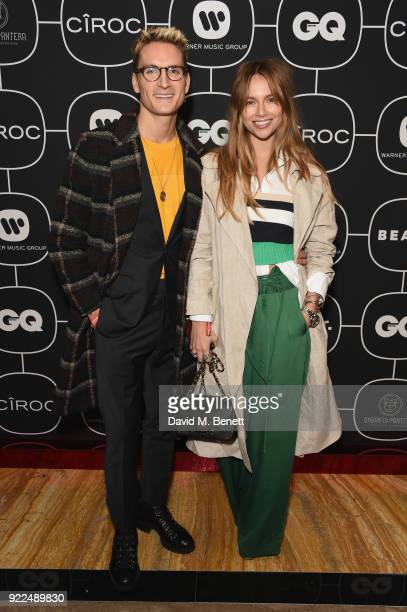 Ollie Proudlock and Emma Louise Connolly attend the Brits Awards 2018 After Party hosted by Warner Music Group Ciroc and British GQ at Freemasons...