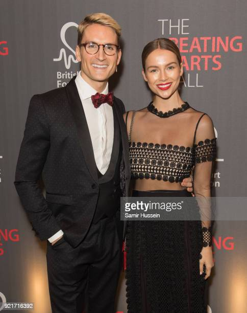Ollie Proudlock and Emma Louise Connolly attends the British Heart Foundation's 'The Beating Hearts Ball' at The Guildhall on February 20 2018 in...