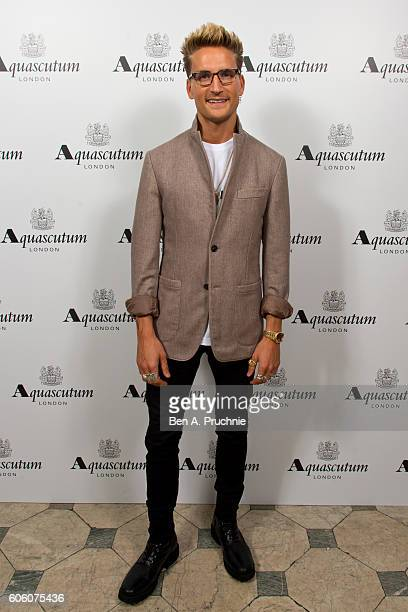 Ollie Proudlock attends the Aquascutum SS17 Presentation on September 16 2016 in London England
