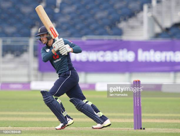 Ollie Robinson of England during the 1st ODI between England U19 and South Africa U19 at Emirates Riverside on July 23 2018 in ChesterleStreet England
