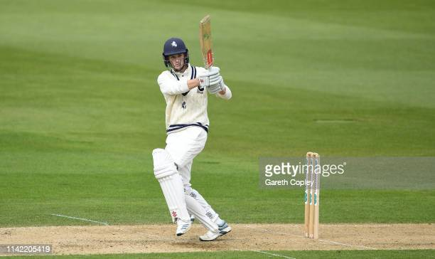 Ollie Robinson of Kent bats during the Specsavers County Championship Division One match between Warwickshire and Kent at Edgbaston Cricket Ground on...