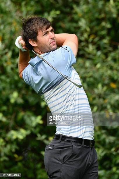 Ollie Schniederjans in action during the final round of the Korn Ferry Tour Championship at Victoria National Golf Club on August 30, 2020 in...